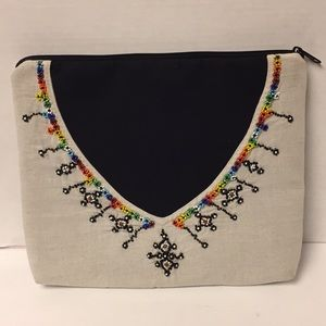 Bohemian embroidered beaded case